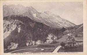 Sur la Route de LA GIETTAZ au Col des Aravis, Rocs de la Tete, Rhone Alps, Fr...