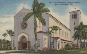 Florida Fort Lauderdale St Anthony's Catholic Church 1952 Curteich