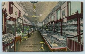 Postcard MD Hagerstown Interior View Milton Kuhler & Sons Jewelry Store c1914 S6