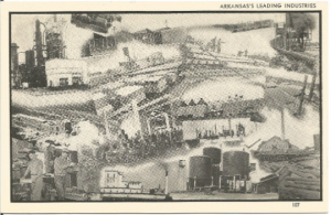 Black and White Collage of Arkansas's Leading Industries Vintage Postcard Indust