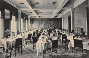 Mainz Germany Hotel Rheinischer Carlton Dining Interior Antique Postcard K15632