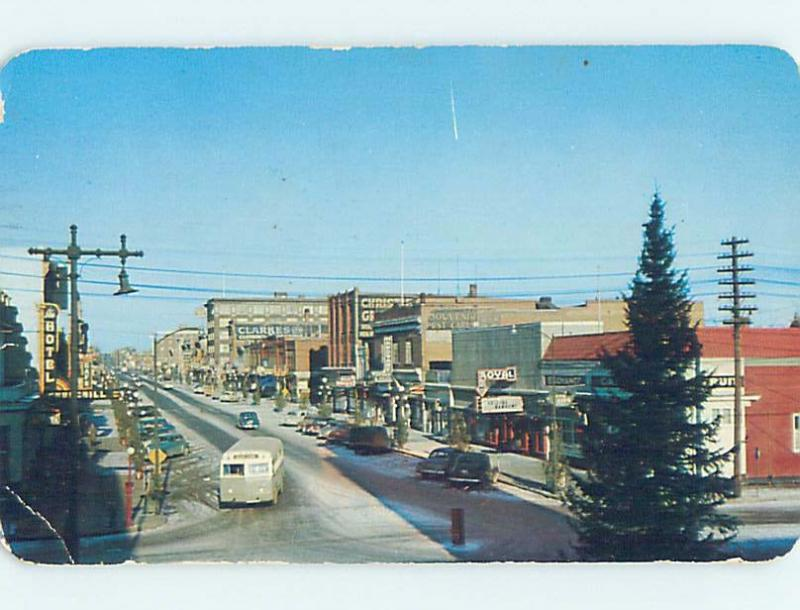 Pre-1980 SHOPS ALONG THE STREET Moose Jaw Saskatchewan SK F0974