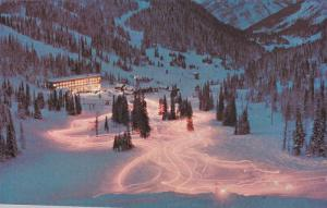 The torchlight parade, Sunshine Village, Banff, Alberta, Canada, 40-60s