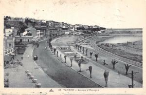 Vintage Postcard Tanger Tangiers Avenue d'Espagne Morocco Africa #T