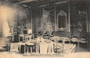 France Chateau de la Rocher en Brenil Grand Salon Tapisserie Louis Postcard