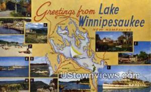 Lake Winnipesaukee, NH Post Card    ;      Lake Winnipesaukee, New Hampshire ...
