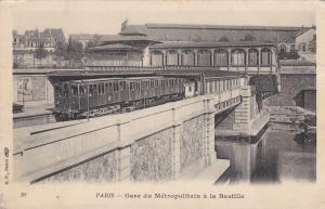 PARIS, France, 1905 ; Gare du Metropolitan a la Bastille