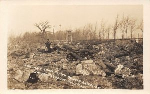 LP66  Pleasant Prairie Wisconsin Postcard RPPC Powder Explosion Main Shaft