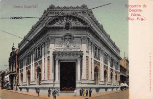 Banco Espanol, Recuerdo de Buenos Aires, Argentina, Early Postcard