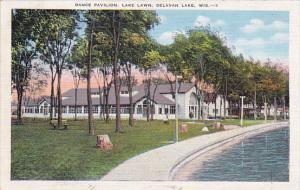 Dance Pavilion, Lake Lawn, DELAVAN LAKE, Wisconsin, 1930-1940s