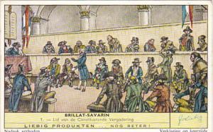 Liebig Trade Card s1726 Brillat-Severin No 1 Lid van de Constituerende Vergad...