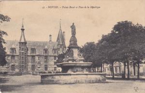 Nevers, Palais Ducal et Place de la Republique, Nievre, France, 00-10s