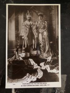 Mint England Real Picture Postcard Coronation of King George V and Queen Mary