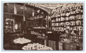 Quebec Canada H J Gale's Old Curiosity Shop Interior View Postcard