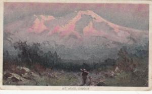 MOUNT HOOD, Oregon, 1901-07; Scenic View, ADV on back for Life Insurance