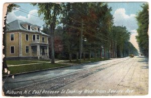 Auburn, N.Y., East Genesee St. Looking West from Seward Ave.