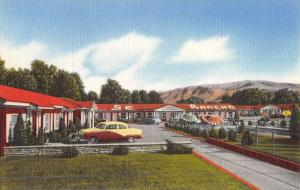 Salt Lake City Utah Rancho Motel Street View Antique Postcard K50568