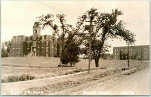 BLAIR, Nebraska RPPC Real Photo Postcard DANA COLLEGE Main Building View Unused