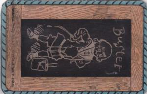 Chalkboard Humour Buster Wash This Slate Card