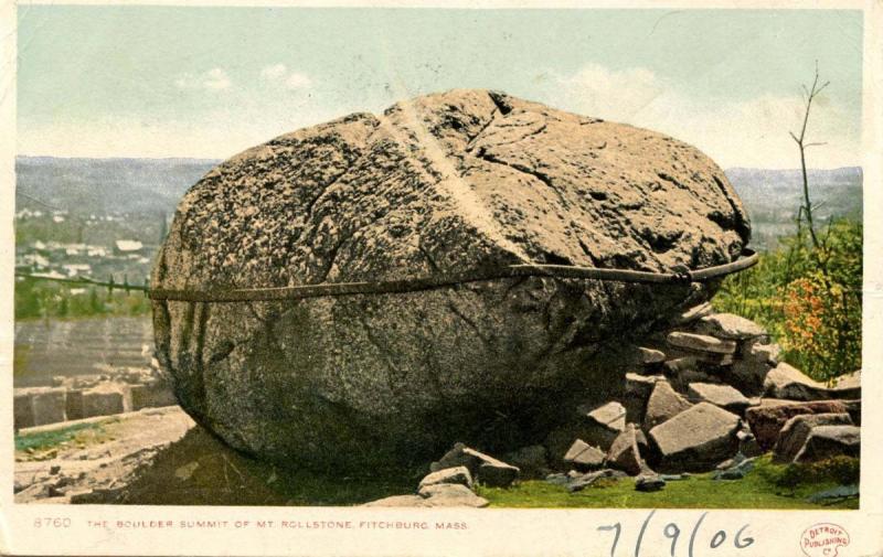 MA - Fitchburg. The Boulder, Summit of Mt. Rollstone