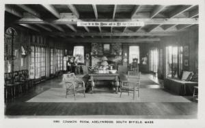 Common Room, Adelynrood ~ South Byfield MA Massachusetts ~ RPPC Postcard
