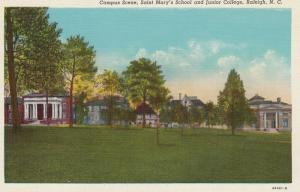 RALEIGH, North Carolina, 30-40s: Campus Scene, Saint Mary's School and Junior...