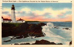 Maine Portland Casco Bay Portland Head Lighthouse 1941