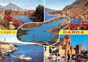 Italy Lago di Garda, Lake Boats Harbour Castle Chateau Panorama Port Bateaux