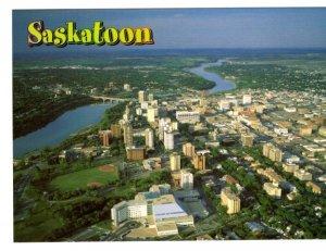 Downtown Saskatoon, Saskatchewan, Large Approx. 5 X 7 inch Postcard