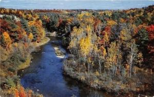 New Bedford Heights Michigan~Little Muskegon River~Fall Color Tour~1960s PC