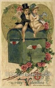 Artist Schmucker, Publisher John Winsch Valentines Day Postcard Post Cards