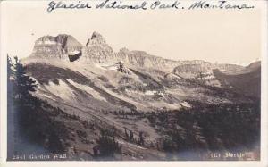 Montana Glacier National Park Garden Wall Real Photo RPPC