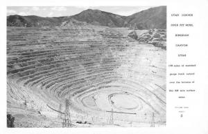 Bingham Canyon Utah Copper Pit Mine Real Photo Antique Postcard K77704