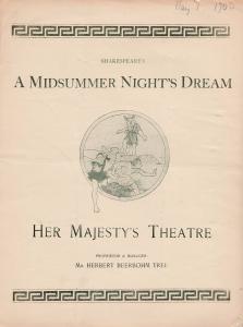 A Midsummer Nights Dream His Majestys Theatre Shakespeare Antique Theatre Pro...