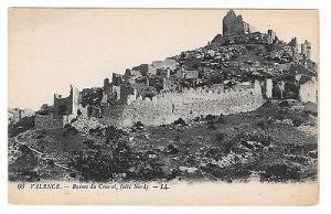 France Valence Chateau Crussol Ruins Castle Vintage Lucien Levy Postcard