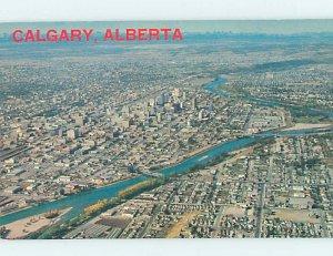 Pre-1980 AERIAL VIEW Calgary Alberta AB AC9392