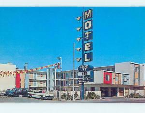 Unused 1950's OLD CARS AT TRAVEL INN MOTEL Las Vegas Nevada NV B5595