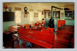 Minden NE- Nebraska, One Room Country School, Pioneer Village, Chrome Postcard
