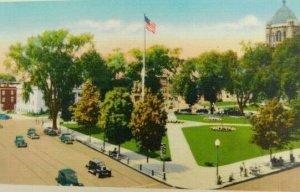 View Of The Common Taunton Massachusetts Linen Vintage Postcard