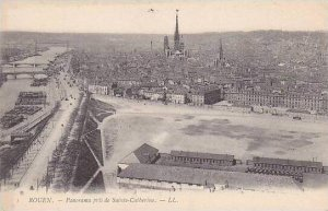 France Rouen Panorama pris de Sainte Catherine