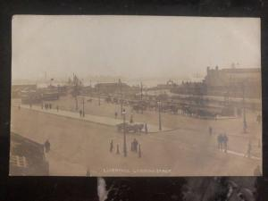 Mint England RPPC Real Picture Postcard Liverpool Landing stage