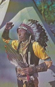 Indian Chief In Full Dress Seneca Indian Reservation Salamanca New York