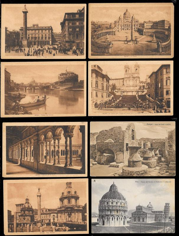 Postcard Tour of Italy (173) postcards ALL Unused & Fresh c1900s-1930s