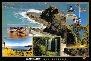 MIN0174 new zealand northlandbusses lighthouse waterfals horbour forest beach