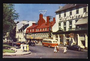 Quebec City, Canada  Postcard, Place d'Armes Ste. Anne St., Old Bus