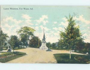 Divided-Back MONUMENT SCENE Fort Wayne Indiana IN F2703