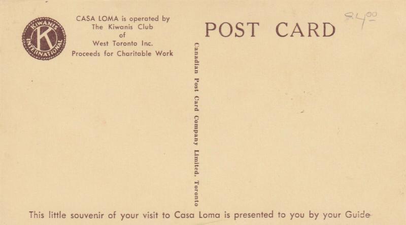 CASA LOMA , TORONTO, Ontario , 30-50s Tour Guide #4