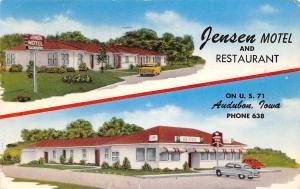 Burlington Iowa~Jensen Motel & Restaurant~1950s Cars~Private Powder Room 1953 PC