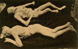 Italy -  Pompei. Bodies of Victims of Volcano Eruption