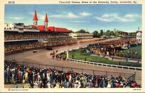 Kentucky Louisville Churchill Downs Home Of The Kentucky Derby Curteich